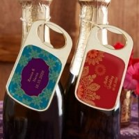 Personalized Indian Jewel Gold Bottle Opener Favors