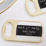 Personalized Mr. & Mrs. Gold Bottle Opener