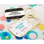Personalized Party Time Gold Bottle Opener Favors
