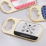 Personalized Wedding Design Gold Bottle Opener