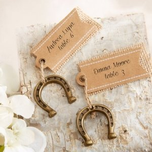 Lucky in Love Horseshoe Place Card Holders (Set of 6) image
