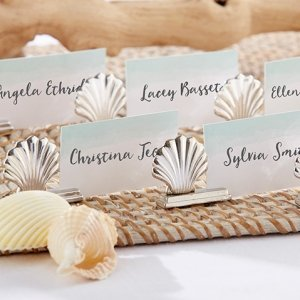 Silver Seashell Place Card Holders (Set of 6) image