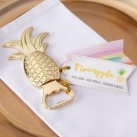 Gold Pineapple Bottle Opener Favors