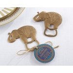 Lucky Golden Elephant Bottle Opener Favor