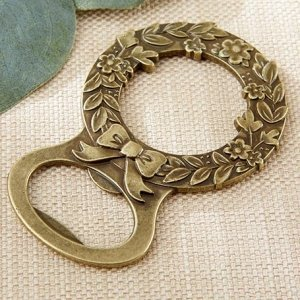 Gold Laurel Bottle Opener Favors image