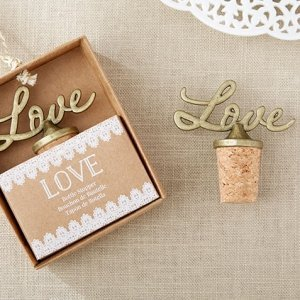 Love Antique Gold Bottle Stoppers image
