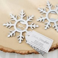 Silver Snowflake Bottle Openers