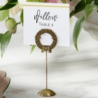 Gold Laurel Place Card Holder (Set of 6)