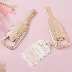 Gold Champagne Shaped Bottle Opener image