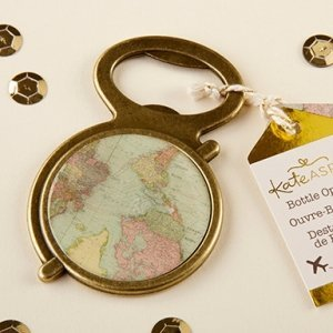 Antique Gold Globe Bottle Opener image