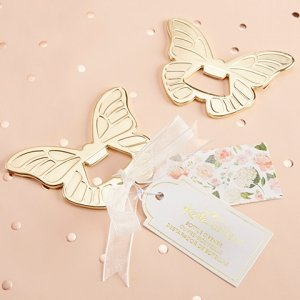 Gold Butterfly Bottle Opener Favors image