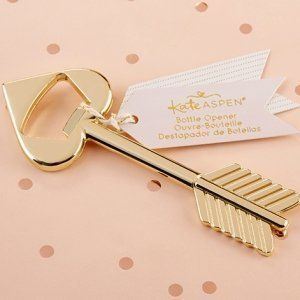 Cupid's Arrow Gold Bottle Opener Favors image