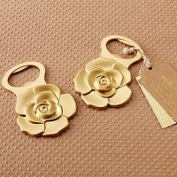 Metallic Gold Rose Bottle Opener Favor