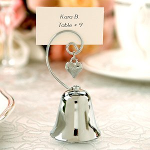 Bell Placecard Holder with Heart Charm (Set of 4) image
