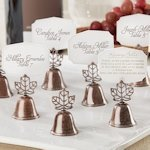 Autumn Leaf Kissing Bell Place Card Holders (Set of 24)