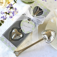 Heart-Shaped Tea Infuser Wedding Favors