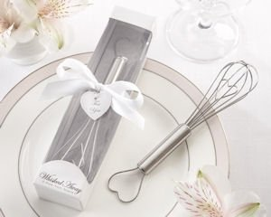Whisked Away Heart-Shaped Stainless Steel Whisk in White Box image