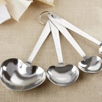 Rustic Heart Measuring Spoon Favors