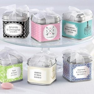 Personalized Wedding Favor Tins (Set of 12) image