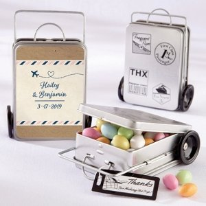 Personalized Travel & Adventure Suitcase Tins (Set of 12) image