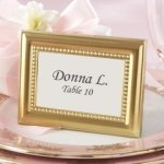 Beautifully Beaded Gold Place Card Frames
