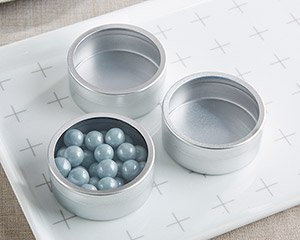 Silver Round DIY Candy Tin (Set of 12) image
