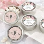 Personalized English Garden Candy Tin Favors (Set of 12)