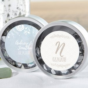 Personalized Silver Round Ethereal Candy Tins (Set of 12) image