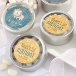 Personalized King of the Jungle Birthday Candy Tins