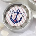 Personalized Nautical Bridal Shower Favor Candy Tins