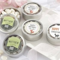 Personalized Woodland Birthday Party Favor Candy Tins