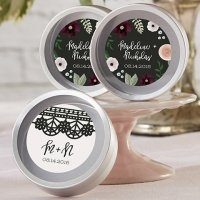 Personalized Romantic Garden Candy Tin Favors (Set of 12)