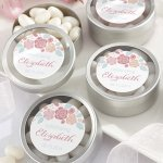 Personalized Rustic Bridal Shower Candy Tin Favors