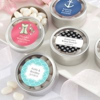 Simply Sweet Round Bridal Candy Tin (set of 12)