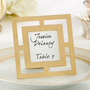 Classic Design Gold Place Card Frames image