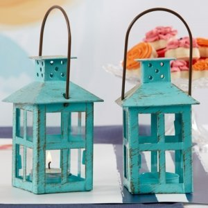 Vintage Blue Lanterns Wedding Favors image