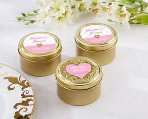 Personalized Gold Round Candy Tin - Sweet Heart (Set of 12) image