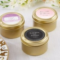 Personalized Wedding Design Gold Candy Tins (Set of 12)