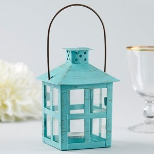 Vintage Blue Distressed Medium Lantern image