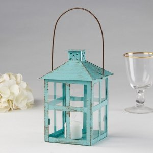 Vintage Blue Large Distressed Lantern image