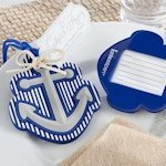 Anchors Away Luggage Tag Wedding Favors