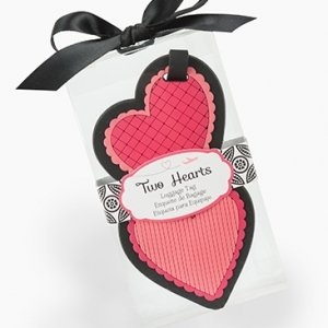 Two Hearts Luggage Tag Wedding Favors image