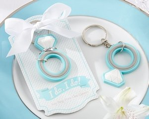 'I do I do!' Engagement Ring Keychain Favors image