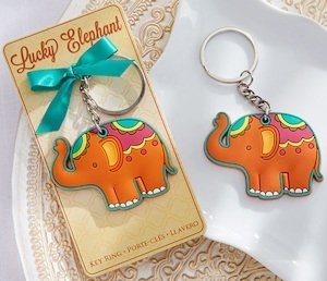 Lucky Elephant Key Ring Favors image