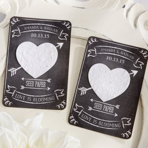 Chalk It Up to Love Personalized Heart Seed Paper Cards image