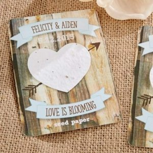Rustic Hearts Personalized Seed Paper Cards (Set of 12) image