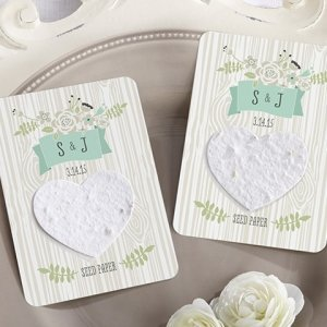 Love Grows Personalized Heart Seed Paper Cards (Set of 12) image