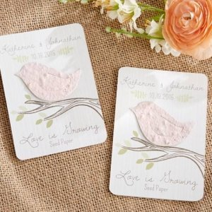 Love Bird Personalized Seed Paper Cards (Set of 12) image