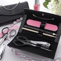 'Little Black Purse' Patent Leather Manicure Favor Set
