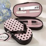 Pink Polka Dot Flip Flop Pedicure Set
